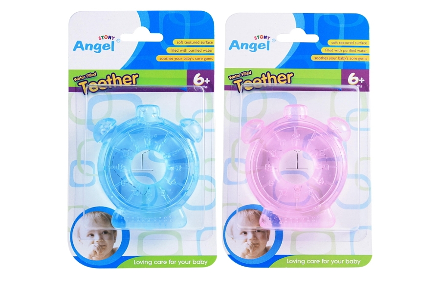 Clock Shaped Water Filled Teether