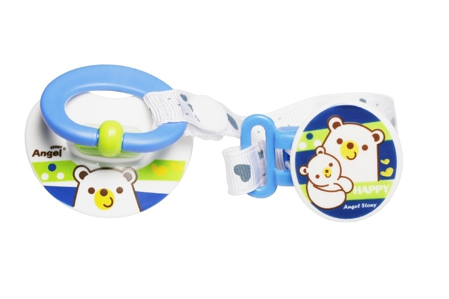 Orthodontic Silicone Pacifier with Clip